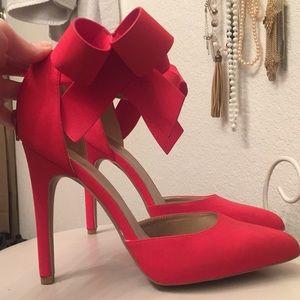 Red Bow Stilettos